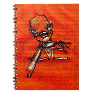 Gazing girl notebook