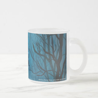 Gazing Into the Void Frosted Glass Mug