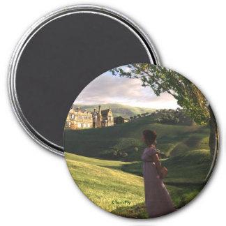 Gazing Upon Pemberley Jane Austen inspired art Magnet