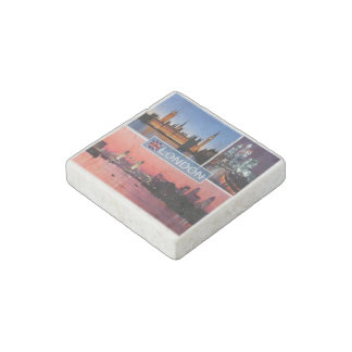 GB England - London by Night - Eestmister - Stone Magnet