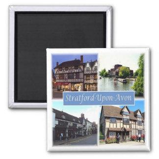 GB * England - Stratford-Upon-Avon Square Magnet