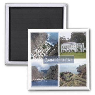 GB * Saint Helena Square Magnet