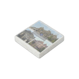 GB Scotland - Edinburgh - Castle - Stone Magnet