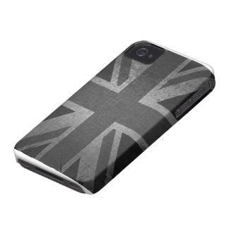 GBUnion Jack in black & grey Case-Mate iPhone 4 Case