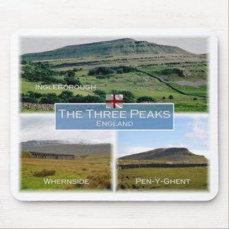 GB United Kingdom - England - The Three Peaks - Mouse Pad