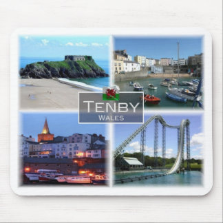 GB United Kingdom - Wales - Tenby - Mouse Pad