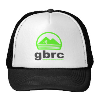 GBRC Trucker Hat.  Green/Black Logo Cap