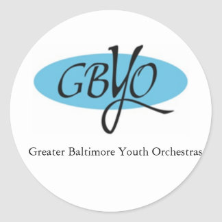 GBYO Music Round Sticker