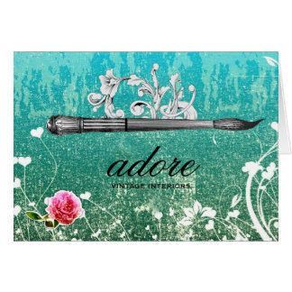 GC Adore Vintage Paintbrush Blue Card