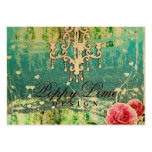 GC Adore Vintage Turquoise Gold Metallic Pack Of Chubby Business Cards