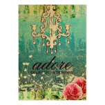 GC | Adore | Vintage Turquoise Gold Metallic Pack Of Chubby Business Cards
