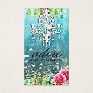 GC Adore Vintage Turquoise Metallic Gold Business Card