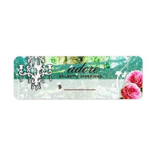GC | Adore | Vintage Turquoise Price Label Return Address Label