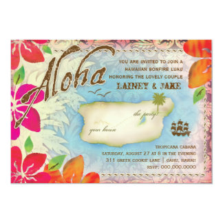 GC Aloha Luau Island Rehearsal Dinner Card