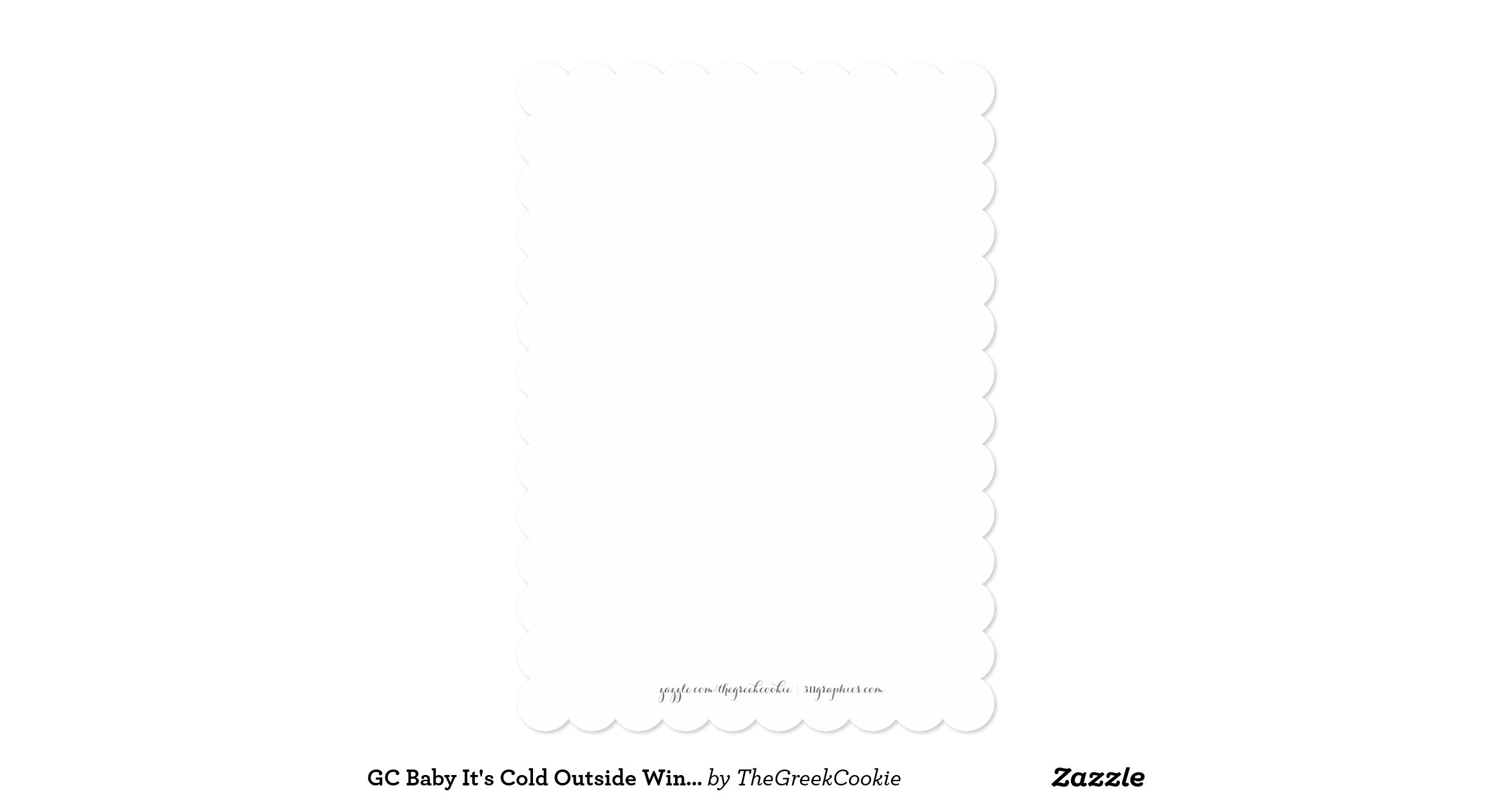 Snap GC Baby It s Cold Outside Winter Birthday Card Zazzle photos on ...