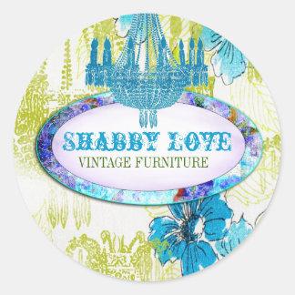 GC Blue Lime Shabby Love Sticker