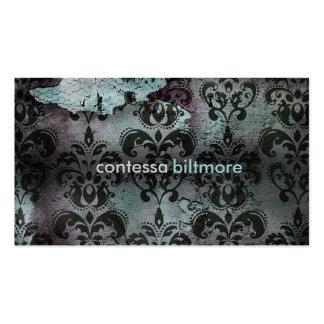 GC Captivating Contessa Teal Business Card Template