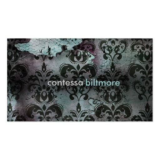 GC | Captivating Contessa | Teal Business Card Template