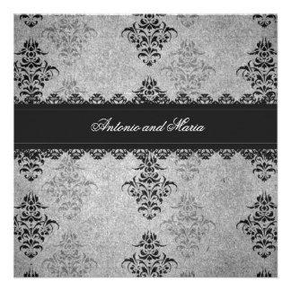 GC | Charcoal Gray Vintage Glam Invitation