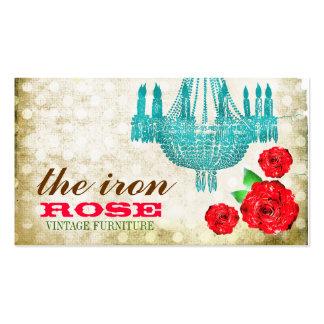 GC Cream Vintage Rose Dots Business Card Templates