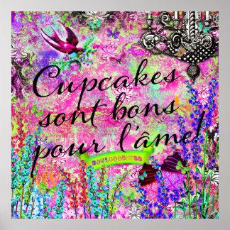 GC Cupcakes sont bons pour l'âme Wall Hanging Poster