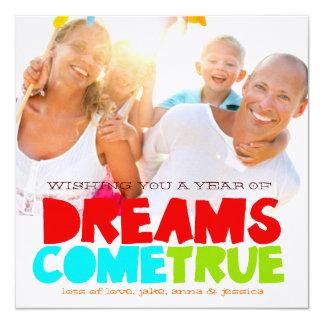GC Dreams Come True New Year 13 Cm X 13 Cm Square Invitation Card