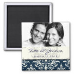 GC | Erika Vintage Damask Save the Date Navy