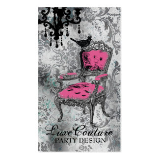 GC Fabulously French Gray Damask Business Cards
