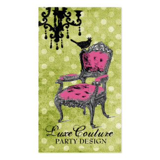 GC Fabulously French Lime Dots Pack Of Standard Business Cards