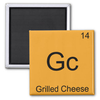 Gc - Grilled Cheese Funny Chemistry Element Symbol Square Magnet