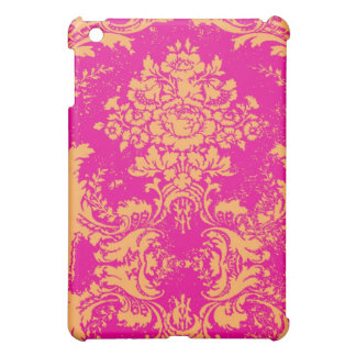 GC iPad Vintage Damask Pink Orange iPad Mini Case