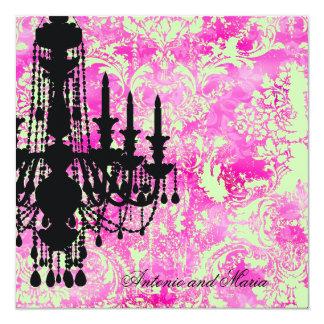 GC | Jolie Chandelier Lime Pink Damask Card