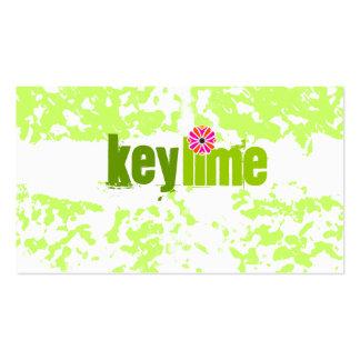 GC   Key Lime Grunge Business Card