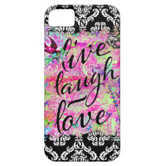 GC Live Laugh Love Vintage Scene Damask Barely There iPhone 5 Case