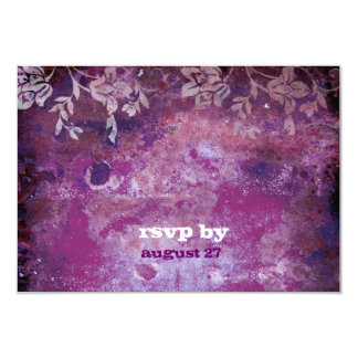GC   Lusciously Rustic Plum RSVP Fits 5.25x5.25 Card