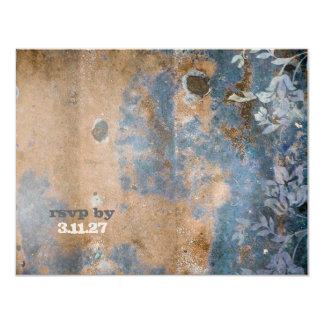 GC   Lusciously Rustic RSVP    Golden Metallic 11 Cm X 14 Cm Invitation Card