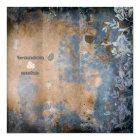 GC | Lusciously Rustic w/flower | Golden Metallic Card