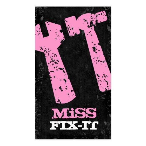 GC Miss Fix It Pink Concrete Business Card