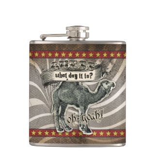 GC Monogram Vintage Guess What Day it Is Hump Day Hip Flask