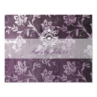 GC | Passionately Purple Floral Vintage RSVP 11 Cm X 14 Cm Invitation Card