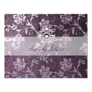 GC | Passionately Purple Floral Vintage RSVP Card