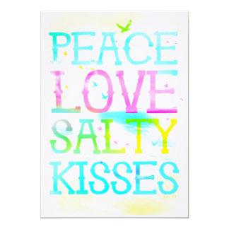 GC Peace Love Salty Kisses Card