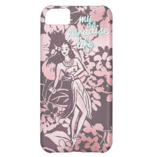 GC Pink & Aqua My Paradise Life Hawaiian Hula iPhone 5C Case