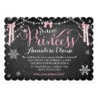 GC Pink Snow Princess with Ribbons Girl Birthday Card