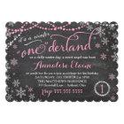 GC Pink Winter ONEderland Birthday Invitation