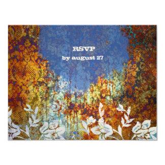 GC | Ravishingly Rustic Damask  | Flower RSVP Card