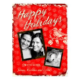 GC | Rustic Christmas Card 3 Add Photo Postcard