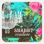 GC Shabby Aqua Garden Chandelier Sticker
