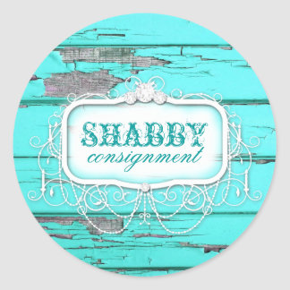 GC Shabby Vintage Aqua Wood Sticker