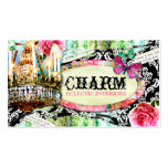 GC  Shabby Vintage Charm Black Damask Pack Of Standard Business Cards